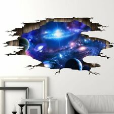 3D Galaxy Sticker Outer Space Wall Paper Ceiling Decoration For Living Room EA