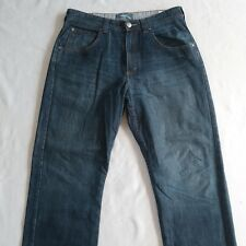 Wrangler Men's Vintage Straight Leg Dark Wash Jeans - Tag 34x32/Measured 35x30.5