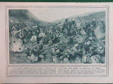 1914 RUSSIAN CAVALRY CHARGE AUSTRIANS; DIXMUDE WWI WW1 (1 SHEET, BOTH SIDES)