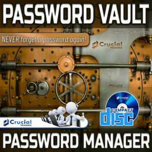 Password Vault Password Manager with Encryption Software Password Generator CD