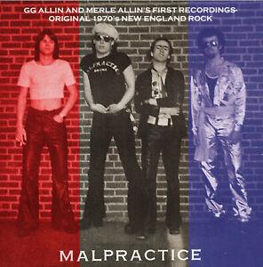 Malpractice – Love Tunnel / Devil's Triangle 7'' coloured vinyl TPOS GG Allin