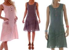 Markenlose Normalgröße Damenkleider aus Leinen