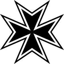 Malteserkreuz Maltese Cross 55 Aufkleber