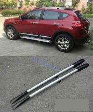 Roof Rack Side Rails Bars for 2007-2013 Nissan Qashqai alloy +plastic