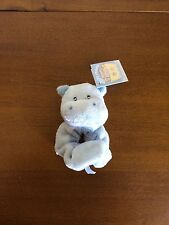 RUSS Hippo/Hippopotamus Baby Boy Wrist Rattle Soft Plush Toy/Shower Gift-Small