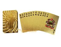 God of War Gold Playing Cards 24k Foil Plated Full Deck Poker Gamble Luxury New