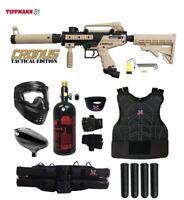 Tippmann Cronus Tactical Starter Protective HPA Paintball Gun Package Tan