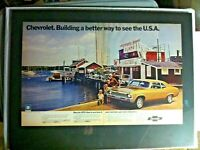 "1972 Chevrolet Chevy II Nova  Wharf *Original*GM car ad ""Ready to Display"" print"