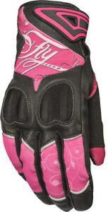 Fly Racing - 476-6121M - Women's Venus Gloves Pink/Black Md