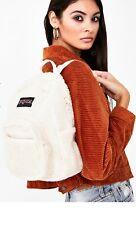JanSport Half Pint FX Mini Backpack Soft Tan Sherpa JS0A3C4J5Y4 RARE