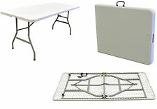 HEAVY DUTY 4FT OUTDOOR PLASTIC TABLE HALF FOLDING MARKET STALL PASTING CAR BOOT