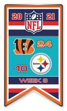 2021 Semaine 3 Bannière Broche NFL Cincinnati Bengals Vs.Steelers Super Bowl