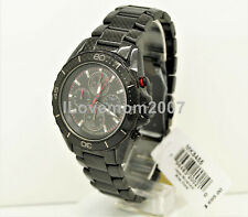 NW Michael Kors Jetmaster Black Carbon Fiber Chronograph Dial Men's Watch MK8455