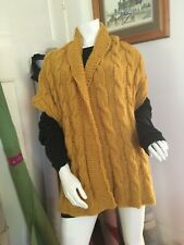 MUSTARD YELLOW cable shrug/cardigan.   Hand made Made In Victoria.