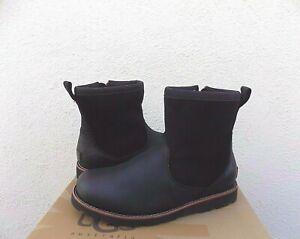 UGG HENDREN TL BLACK WATERPROOF LEATHER/ SHEEPWOOL BOOTS, US 13/ EUR 46 ~NIB