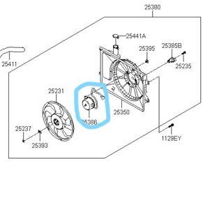 253863K170 Genuine MOTOR-RADIATOR COOLING FAN For Hyundai Sonata NF