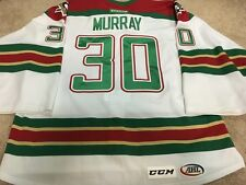 MATT MURRAY 14'15 ROOKIE AHL WBS Penguins Xmas Signed Game Worn Used Jersey COA