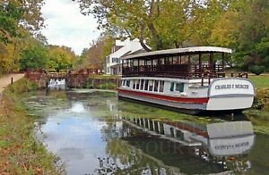 8x12 photo print: C&O Canal Historic Park boat, lock, towpath, tavern, Maryland