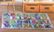 Anti Slip Children's Alphabet Nursery Carpet Kids Bedroom Play Mat Rug 100x138cm