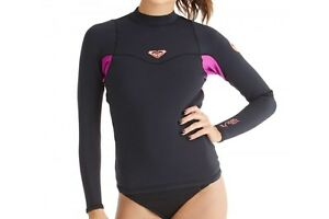ROXY Women's 1mm SYNCRO L/S wetsuit Top  - XKMN - Size 8 - NWT