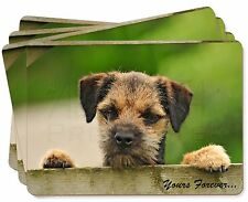 """Border Terrier Puppy Dog """"Yours Forever..."""" Picture Placemats in Gift , AD-BT5yP"""