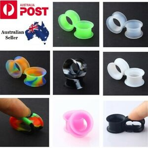 Ear Tunnel Plug Stretcher Taper Piercing- Soft Silicone 1 Pair (2pcs)