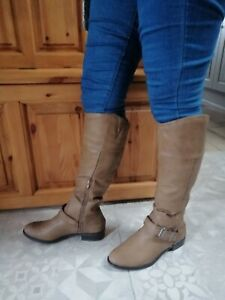 Just Fab Riding Style Boots, Size UK6