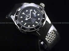 New Invicta Men's 47mm GRAND DIVER NH35A Automatic Black Dial Rubber Strap Watch