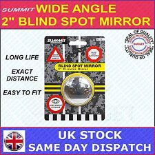 """SUMMIT BLIND SPOT MIRROR ROUND ADHESIVE  2"""" INCH EASY FIT WIDE ANGLE RV16"""