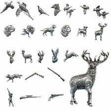 Bisley Pewter Lapel Pin Badge Pheasant Grouse Stag Dog Shooting Hunting Gift Tie