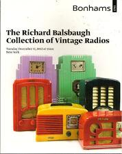 BONHAMS Vintage Radio Emerson Fada Garod RCA Balsbaugh Collection Catalog 2012