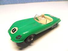 A 13  ) JAGUAR TYPE E cabriolet vert clair N° 8 ref : 350  circuit routier JOUEF