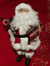Vintage Classic Santa Bringing Gifts 13 Inches Tall with Large Beard & Glasses