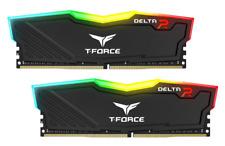 NEW 2X8GB TEAM T-FORCE DELTA II RGB 2666MHZ DDR4 GAMING RAM COMPUTER DESKTOP RAM