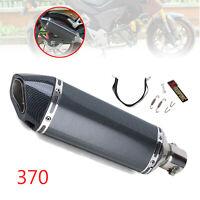 Carbon Fiber Motorcycle 370mm Exhaust Muffler Pipe DB Killer 38-51mm 2 Color