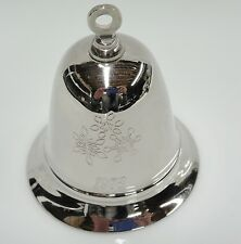Kirk Stieff 1978 Musical Bell Silverplated Plays White Christmas Snowflakes