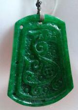 pendant and necklace 玉� Full Green jadeite jade phoenix