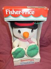 1997 NEW BOX FISHER PRICE THERMAL COZIE SNOWMAN,LOVEY,SECURITY BLANKET,BABY,