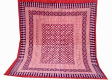 Block print Special King Size Kantha Quilt Home-Reversible BedspreadHandmade