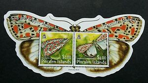 *FREE SHIP Pitcairn Islands Moth 2007 Butterfly Insect (ms) MNH *odd *unusual