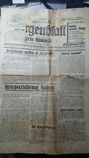 OLD JEWISH NEWSPAPER, 1938  WITH PALESTINE CENSURE