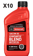 Pack of 10 Quarts Engine Motor Oil Premium Synthetic Blend Motorcraft XO5W30Q1SP