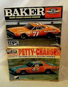 LOOK! 1970`S MPC PETTY & BAKER NASCAR CHARGER 1/25 MODEL KIT RESTORATION LOT!