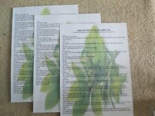 3 Pages A4 herbes et épices. Sorcières et Herbal utilise pour votre Sort travail Bos