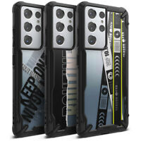For Samsung Galaxy S21 / S21 Plus / S21 Ultra Case Ringke Fusion-X Design Cover