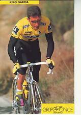 CYCLISME carte  cycliste KIKO GARCIA  équipe ONCE 1993