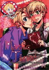 Hetalia Axis Powers YAOI Doujinshi Comic USA (Alfred) x UK (Arthur) Magic Time