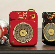 New MUZEN Radio Vintage Portable Mini Bluetooth Subwoofer Audio Speaker RED