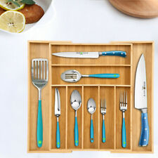 New listing Bamboo Kitchen Drawer Organizer Expandable Silverware Organizer Utensil HolderUs