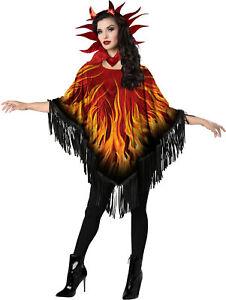 Devilicious Devil Fire Womens Adult Poncho Costume Accessory Kit NEW One Size